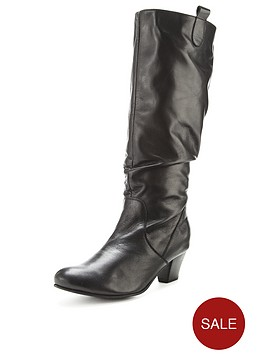 foot-cushion-aloha-low-heel-leather-calf-boots-standard-fit