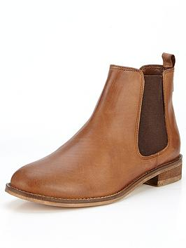 shoe-box-amari-leather-chelsea-contrast-elastic-boots-tan