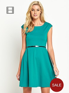 south-ponte-belted-skater-dress