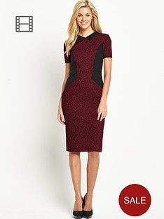 south-petite-collared-panel-dress