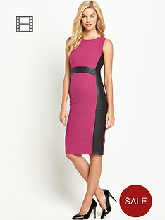south-pu-panelled-dress
