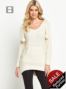 south-pom-pom-hooded-jumper
