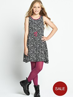 freespirit-girls-mono-graffiti-print-dress