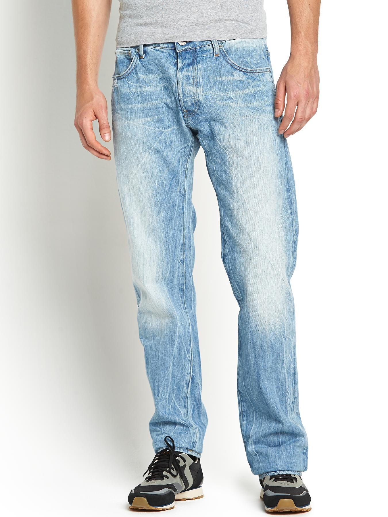 3301 Mens Low Tapered Jeans - Light Aged