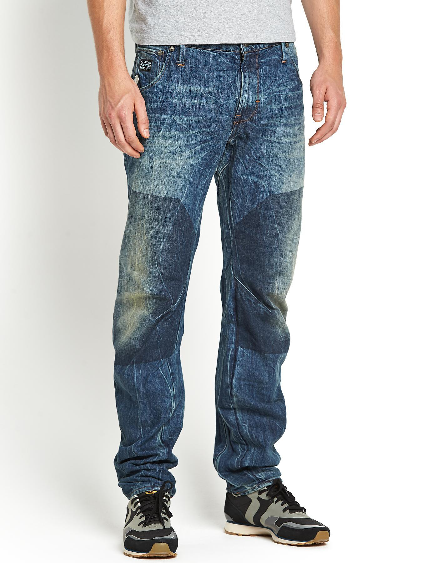 Arc Mens 3D Slim Jeans - Block Wash