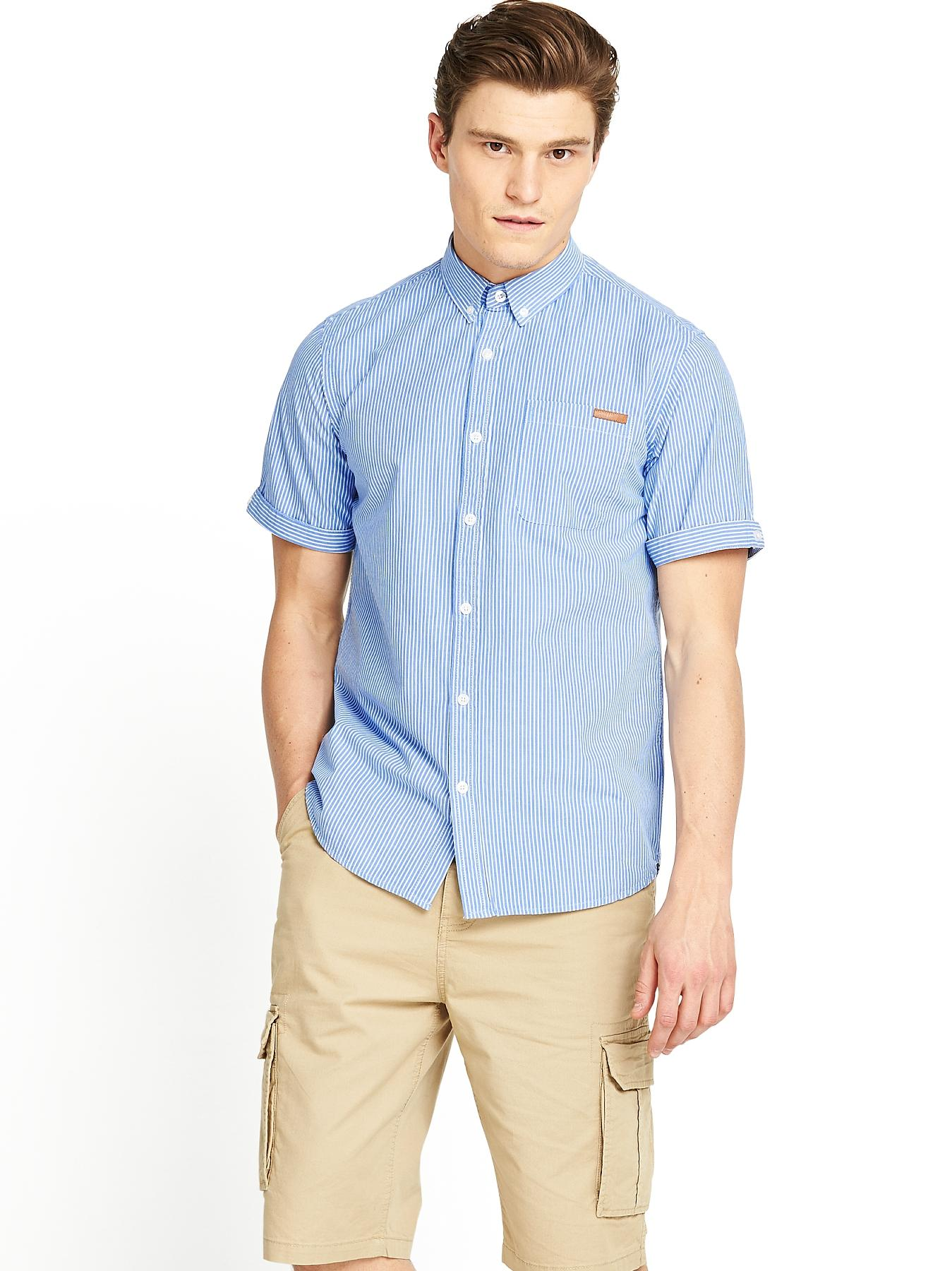 Mens Pelham Stripe Shirt - Regatta Blue, Blue