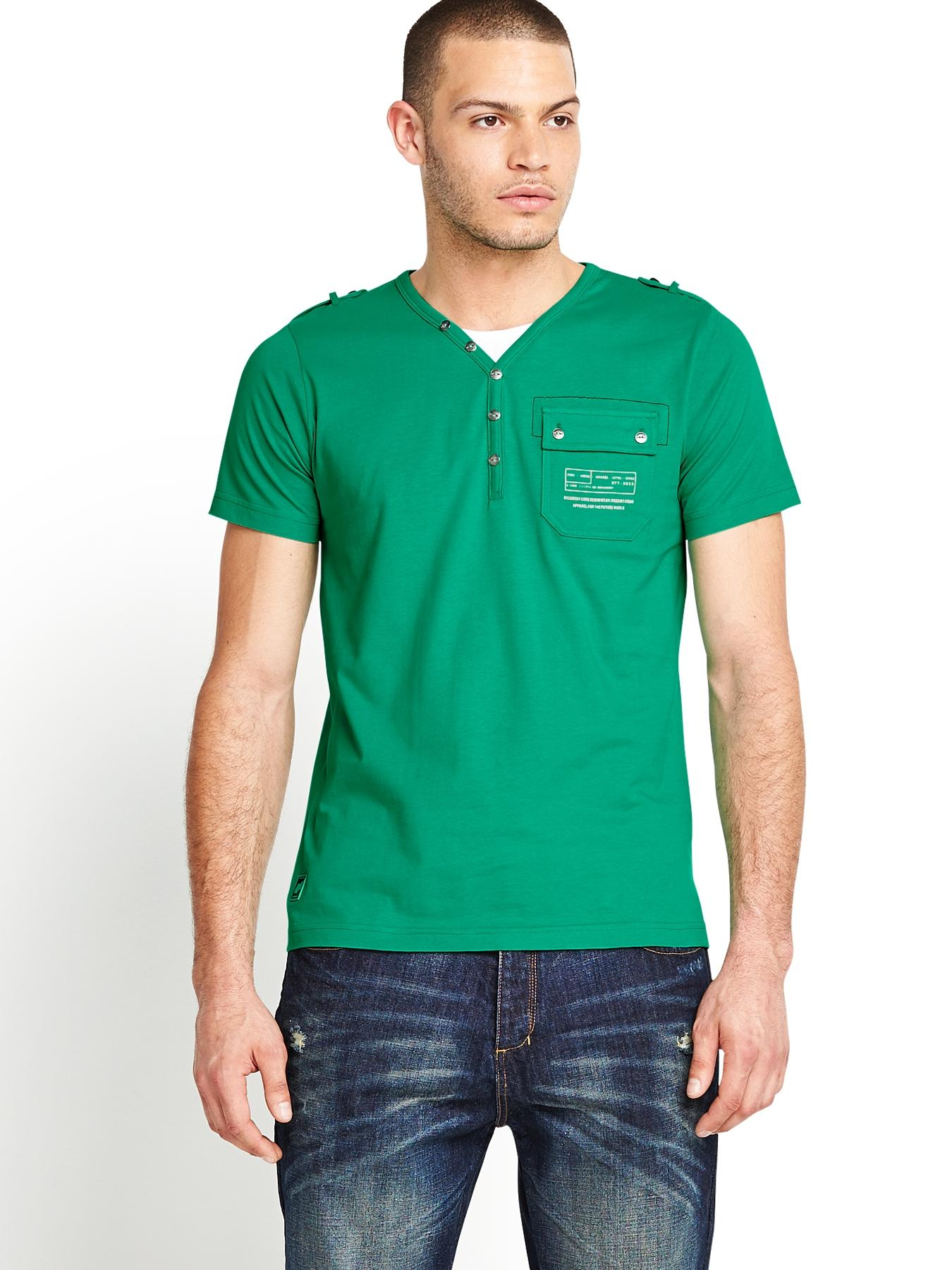 Mens Fender T-shirt - Simply Green, Green
