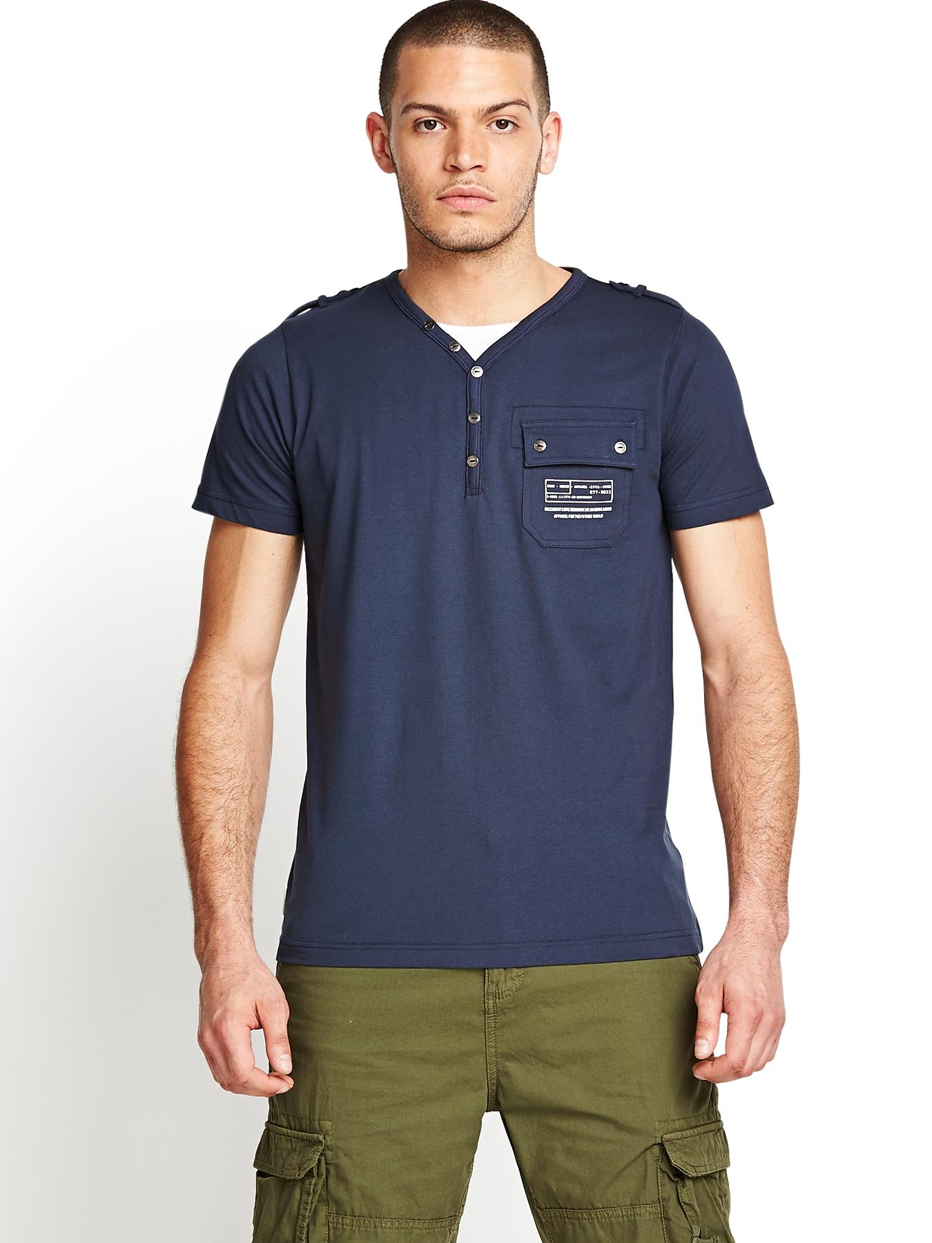 Mens Fender T-shirt - Midnight Blue, Blue