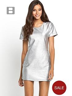motel-virgo-metallic-shift-dress