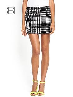 motel-nina-houndstooth-skirt