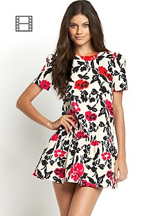 girls-on-film-floral-print-dropped-hem-dress