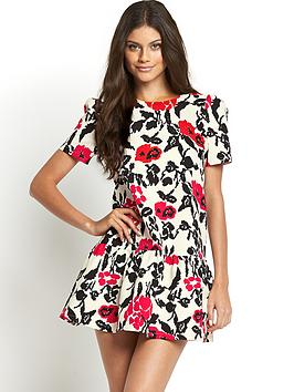 girls-on-film-floral-print-dropped-hem-dress