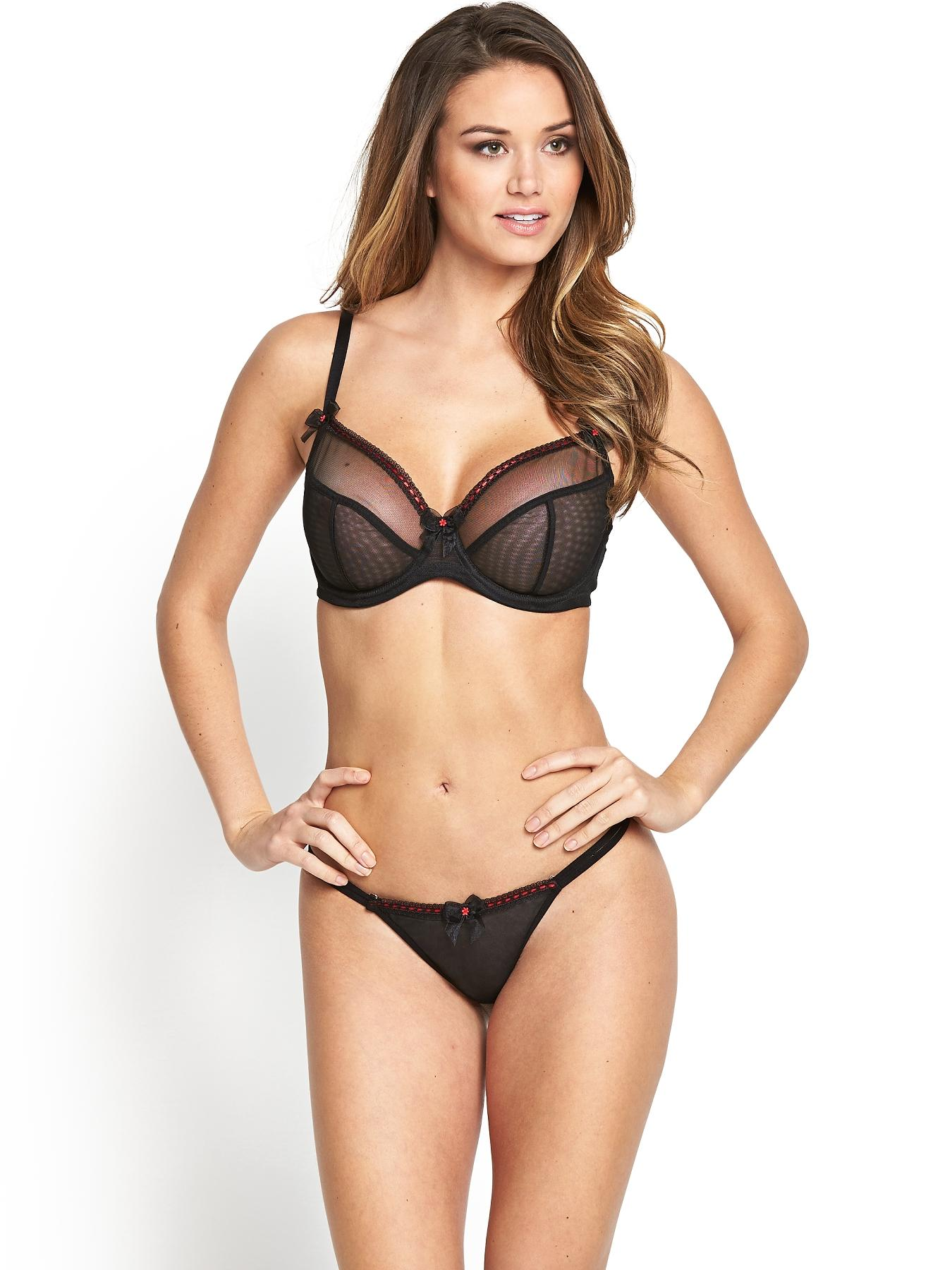 Pin Up Thong, Black at Littlewoods