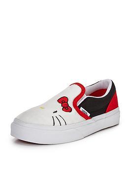 vans-classic-hello-kitty-slip-on-junior-plimsolls