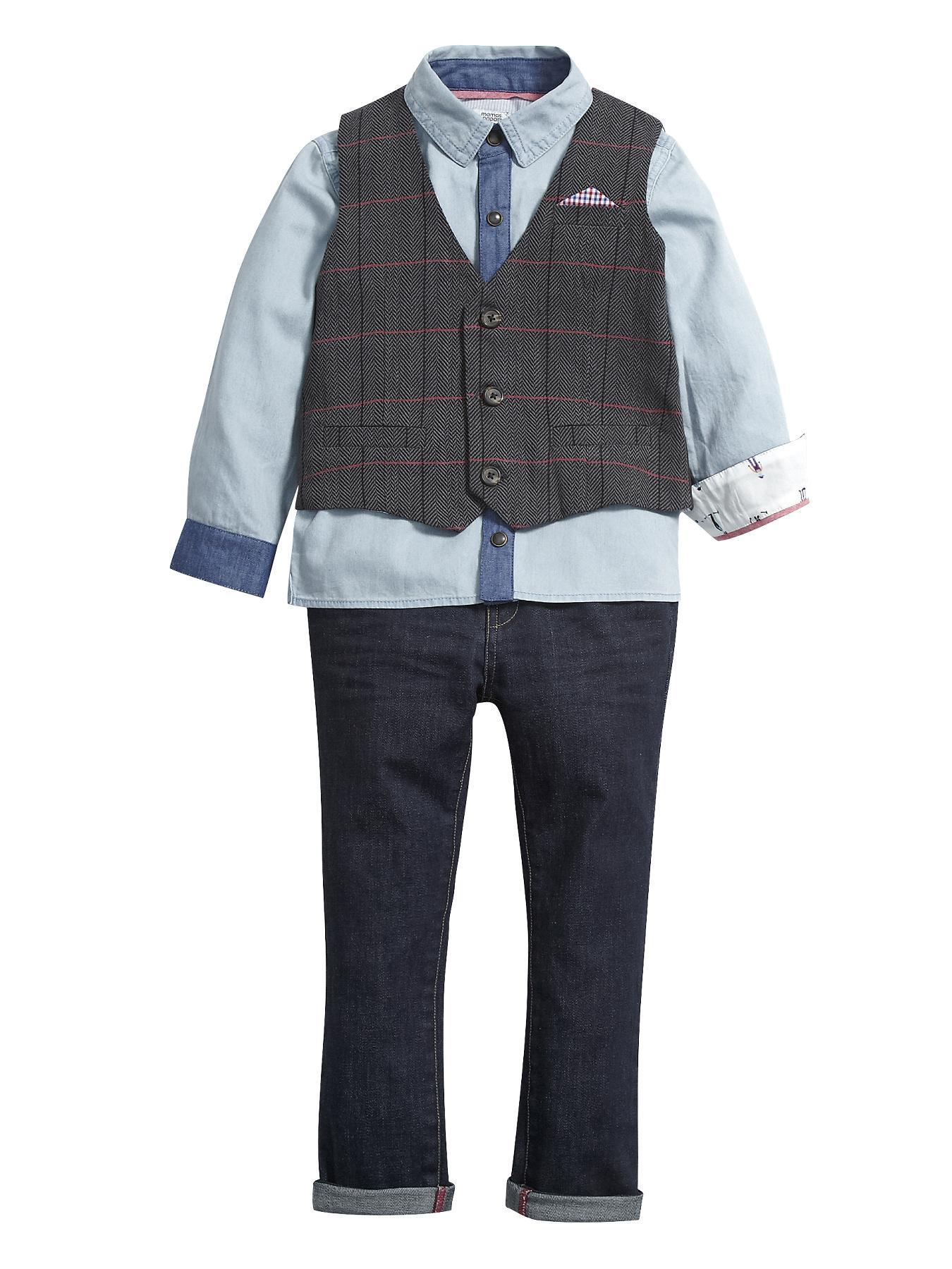 Waistcoat Set (3 piece), Blue