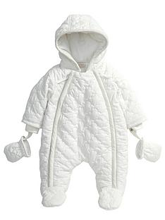 mamas-papas-off-white-quilted-pramsuit