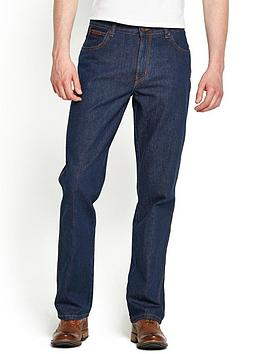 Wrangler Mens Texas Straight Rigid Jeans  Darkstone