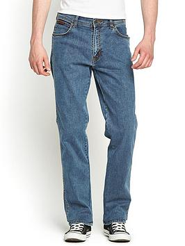 Wrangler Mens Texas Stretch Straight Jeans  Stonewash