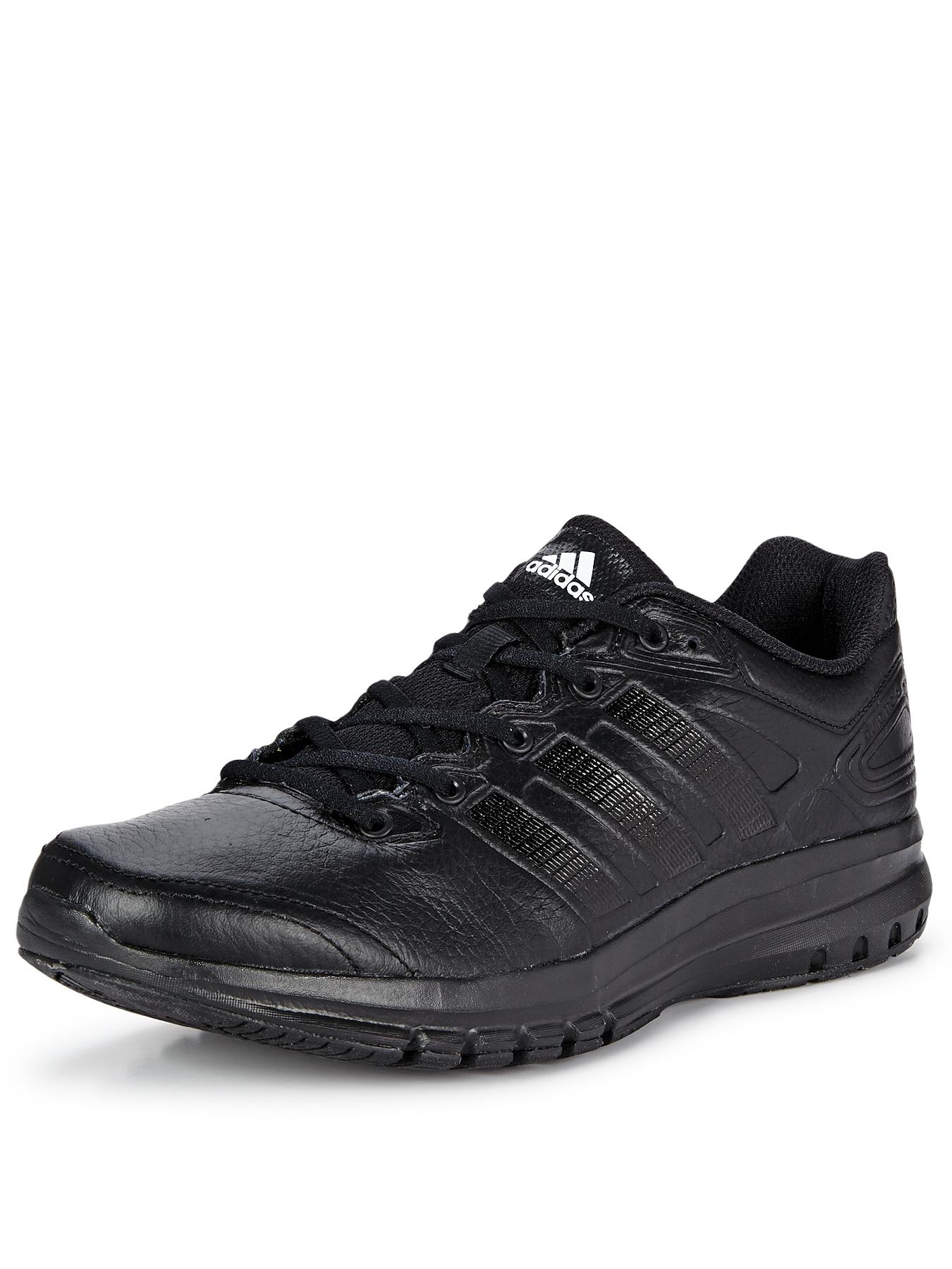 Duramo 6 Leather Mens Trainers - Black, Black
