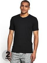 Mens Logo T-shirts (2 Pack) - Black