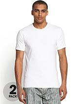 Mens Logo T-shirts (2 Pack) - White
