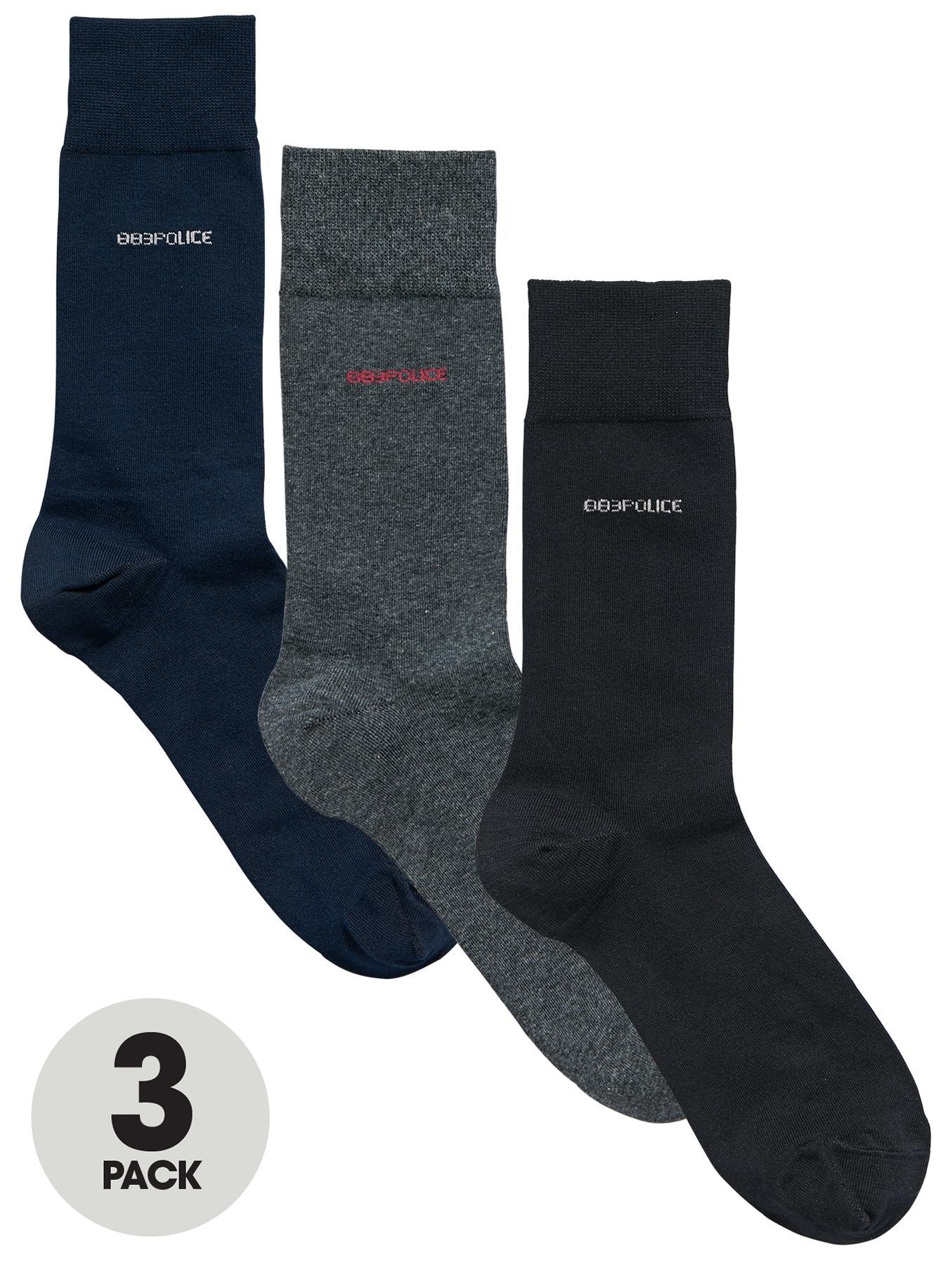 Deseo Socks (3 Pack), Navy at Littlewoods