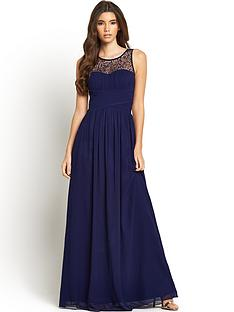 v neck plus length wedding attire