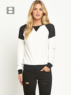 french-connection-martha-lace-jersey-top