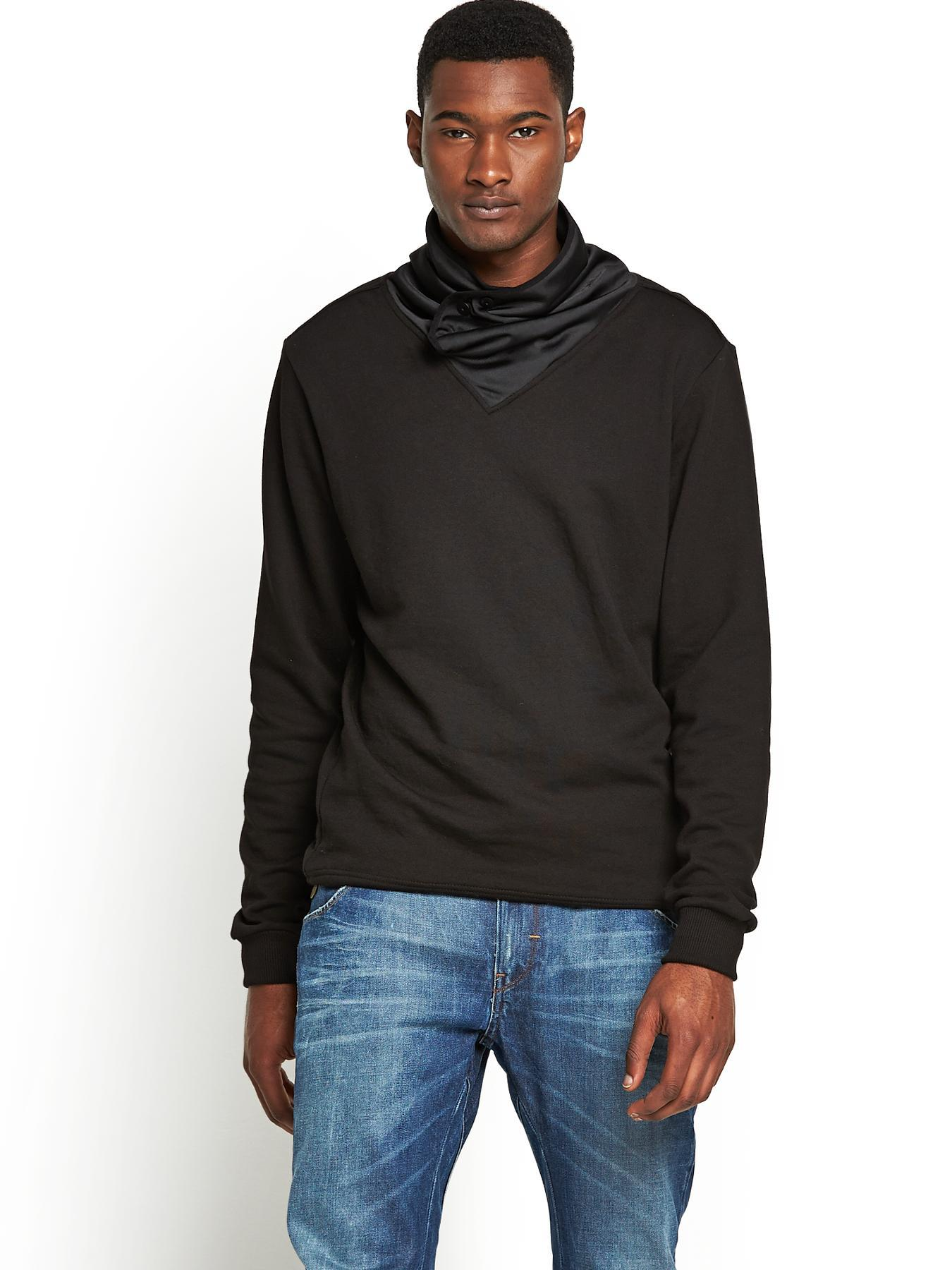 Sobeck Mens Sweat Top, Black