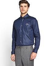 Mens Long Sleeve Oxford Pocket Detail Shirt