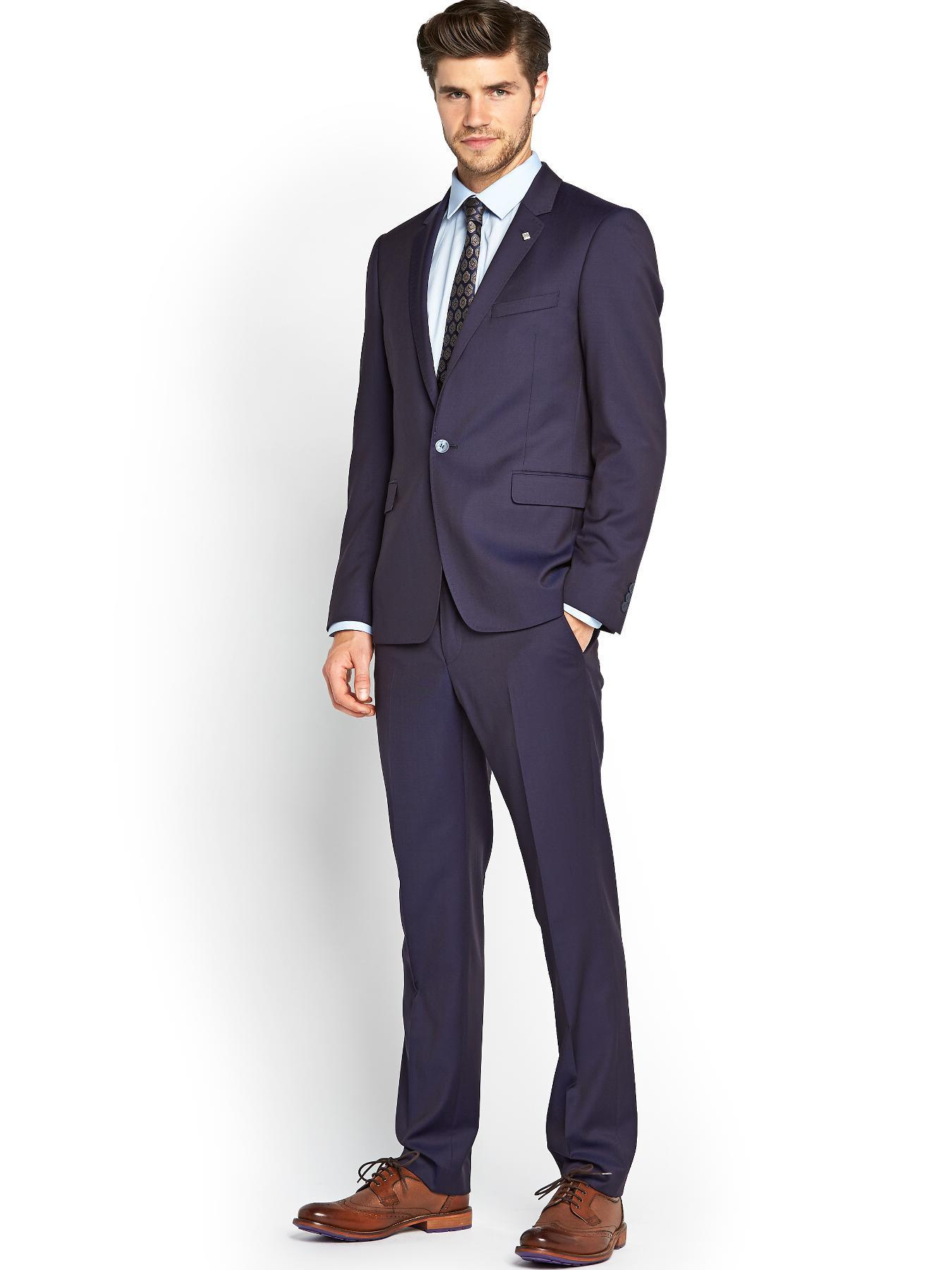 Mens Neige 2 Piece Suit, Blue