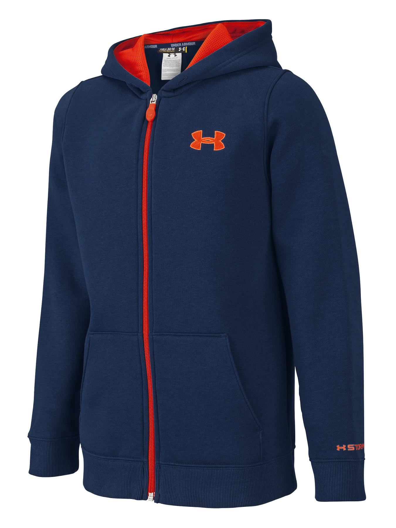Youth Boys Storm Fully Zipped Hoody, Navy