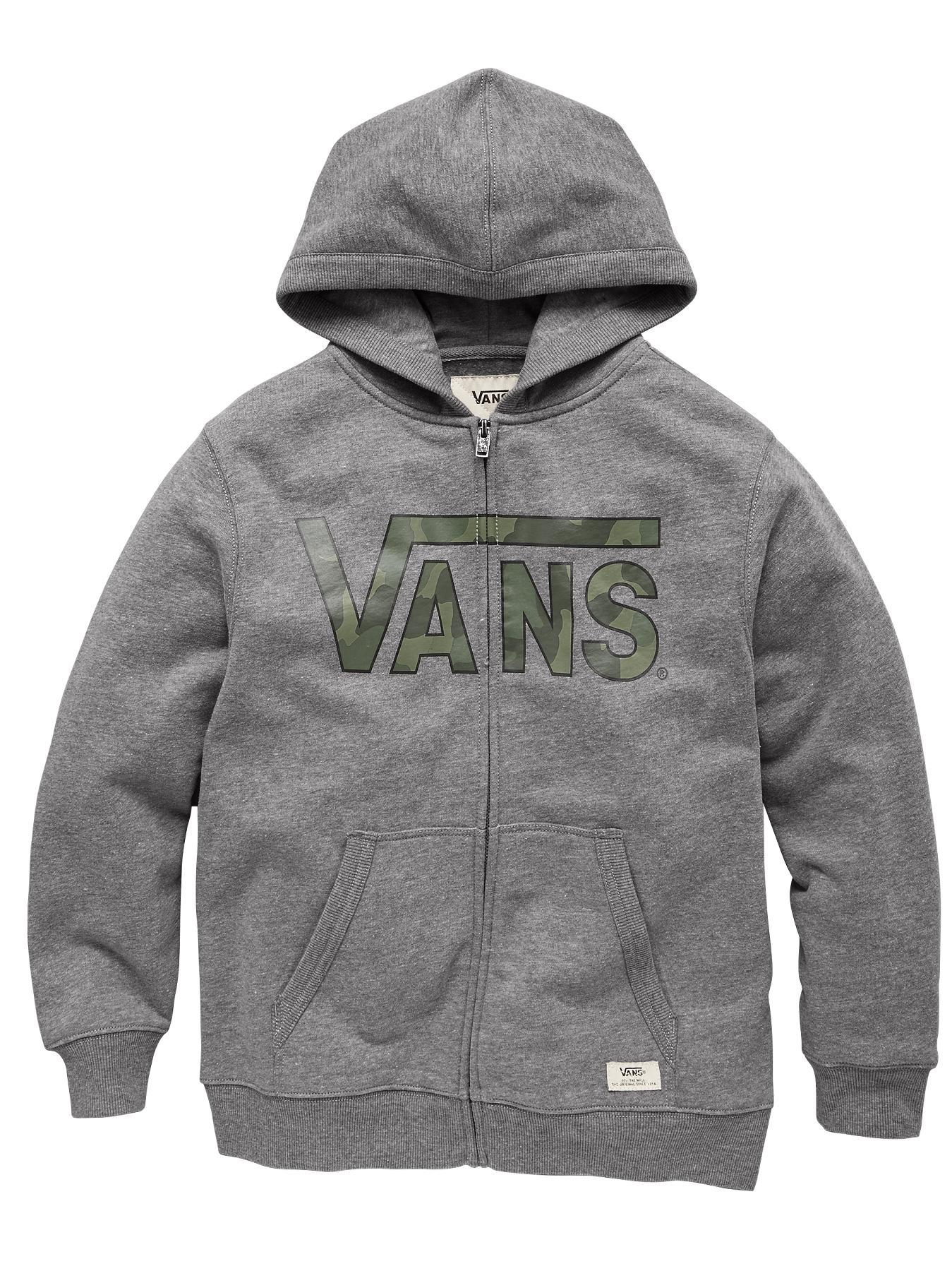 Youth Boys Classic Zip Hoody, Grey
