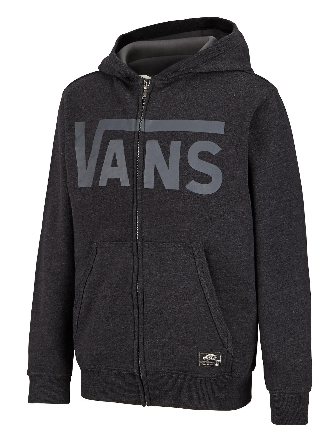 Youth Boys Classic Zip Hoody, Black