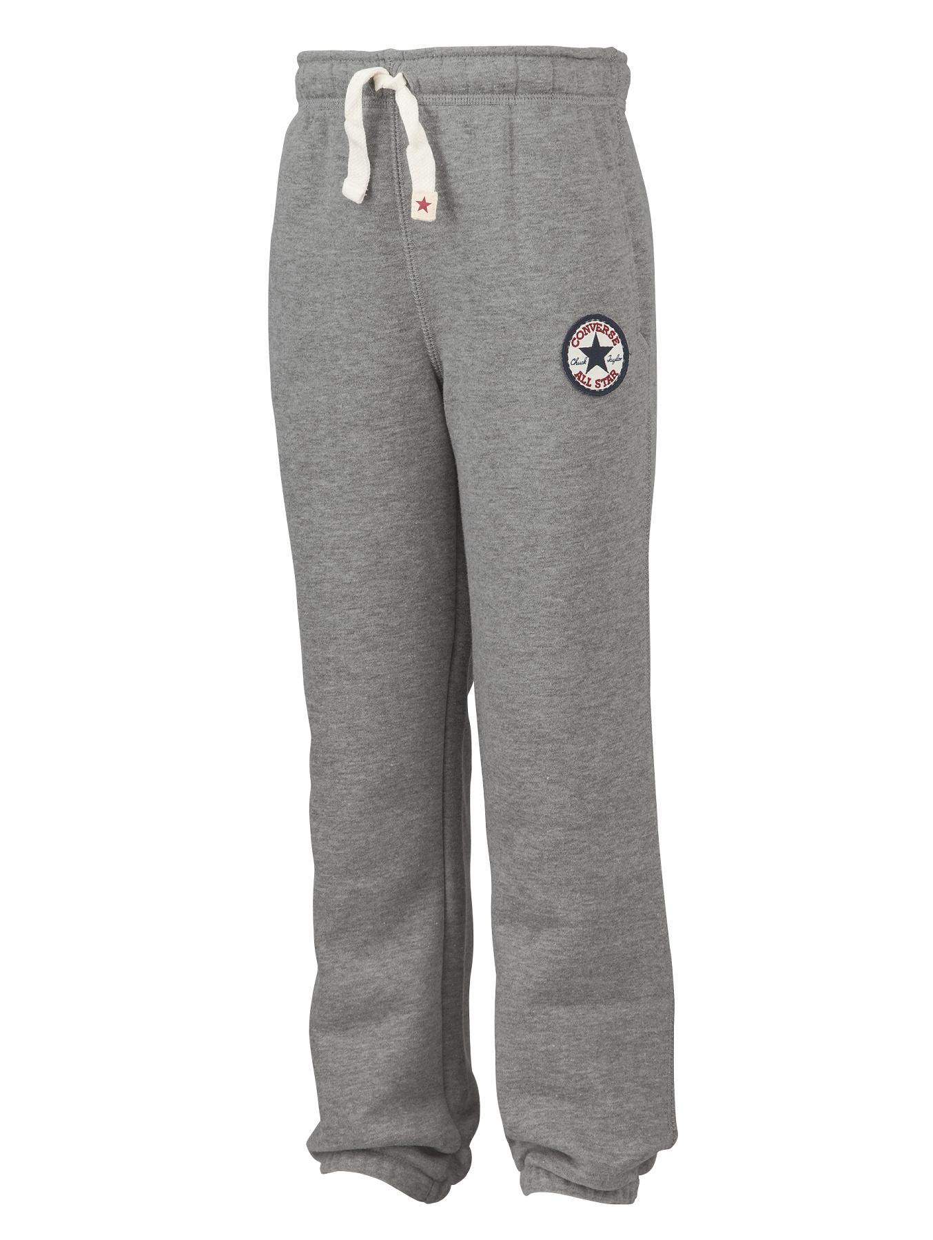 Little Boys Chuck Patch Fleece Pants - Grey Heather, Grey