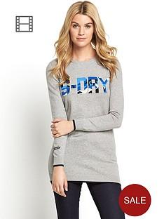 superdry-camo-softball-knit-crew-dress