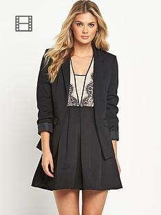 oasis-black-ponte-blazer
