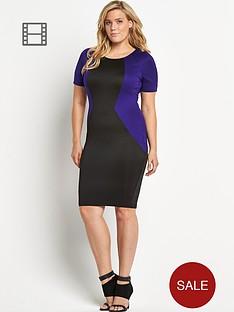 ax-paris-curve-illusion-midi-dress