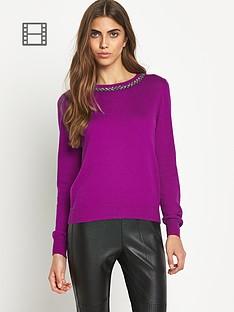 oasis-embellihsed-collar-knitted-jumper