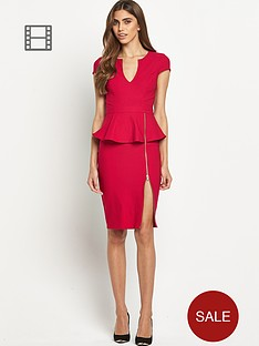 lipsy-zip-detail-peplum-dress