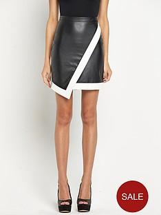 lipsy-pu-asymetric-skirt