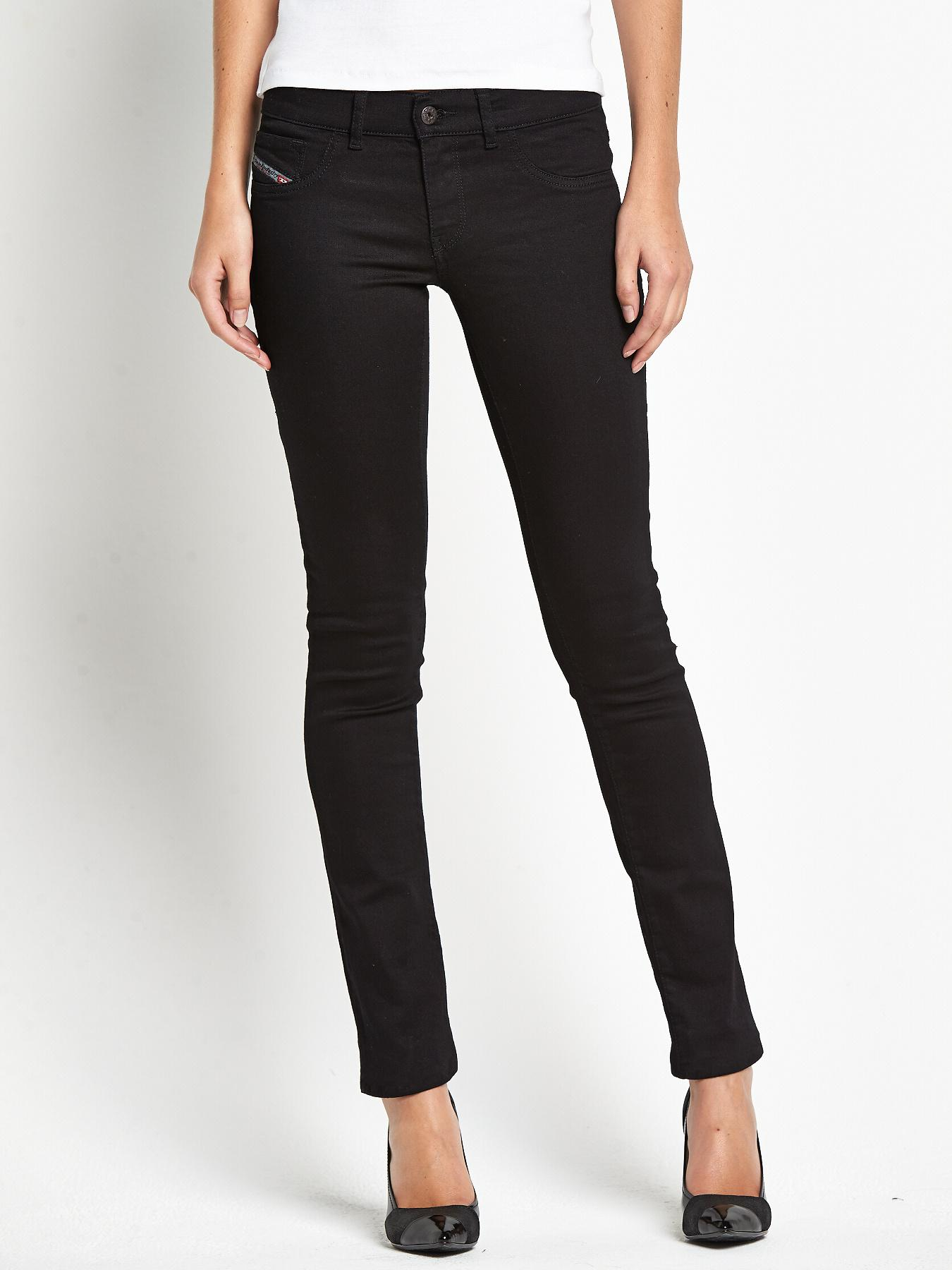 Livier Super Slim Jeggings - Black, Black