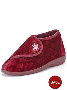 dunlop-velcro-fasten-full-slipper-with-floral-detail