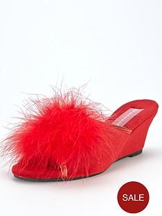 dunlop-fluffy-wedge-mule-slipper