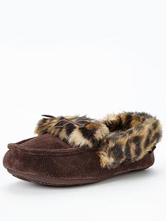 totes-bow-fur-moccasin-slipper