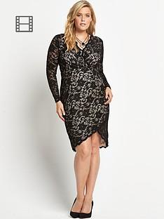 ax-paris-curve-lace-midi-dress