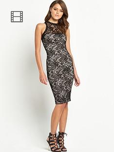 ax-paris-cut-in-lace-midi-dress