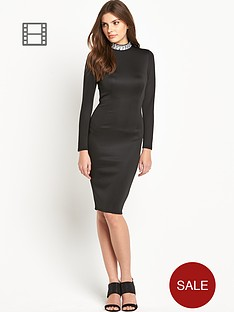 ax-paris-embellished-neck-dress