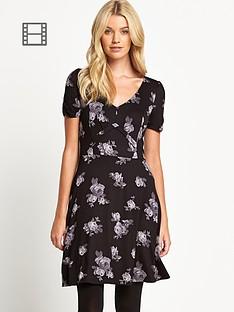 oasis-scatter-rose-print-jersey-dress
