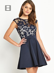 lipsy-2-in-1-lace-skater-dress